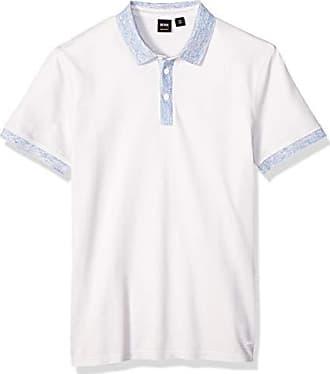 4bcdc863 HUGO BOSS BOSS Orange Mens Punch Short Sleeve Polo Shirt, White, XXXL