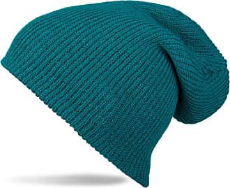 styleBREAKER Beanie, Slouch, Long Knitted hat, Double Knitted 04024004, Color:Petrol