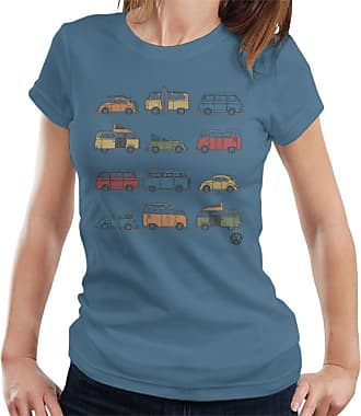 Volkswagen Vans and Beetles Womens T-Shirt Indigo Blue