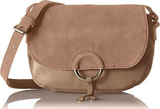 50140068a Pieces Pcjoline Leather Cross Body, Bolsos bandolera Mujer, Beige (Ginger  Snap),