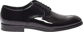 Doucal's Black Patent Leather Derby lace-ups, 40.5