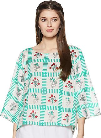 Indigo Womens Cotton Straight Kurti (SS19/IND-549_ Aqua_ S)