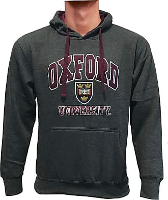 Oxford University Official Licensed Embroidered Hoodie Long Sleeve Unisex Mens Womens Pullover + One Free T-Shirt (Large, Charcoal)
