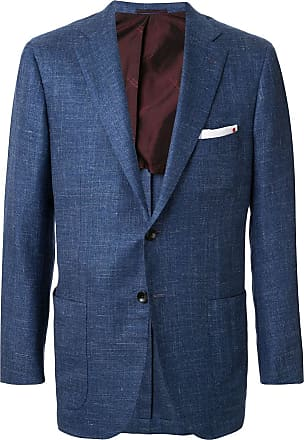 Kiton patch pocket single-breasted blazer - Blue