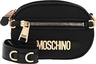 Moschino Cross Body Bags - Small Crossbody Bag Logo Black Fantasy Print - black - Cross Body Bags for ladies