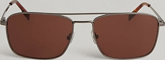 Hackett Square Bridge Sunglasses | Silver | Metal