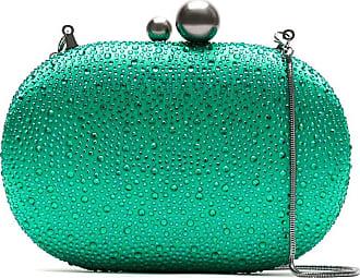 Isla Bolsa clutch com strass - Verde