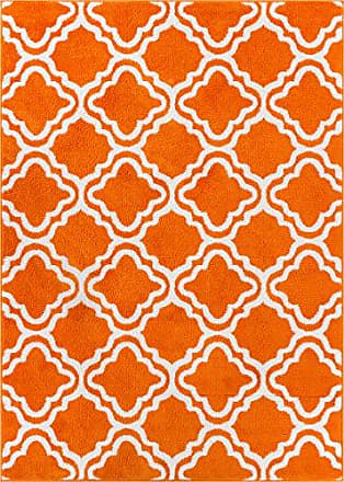 Well Woven 09494 StarBright Calipso Modern Geometric Trellis Orange 33 x 5 Kids Area Rug