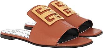 Givenchy Sandals - 4G Sandals Grained Leather Cognac - cognac - Sandals for ladies