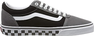 Vans Mens Ward Canvas Trainers, Multicolour ((Checker Tape) Pewter/Black V0w), 10.5 (45 EU)