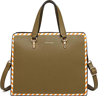 Quirk Stripe Design Shoulder Bag - Green