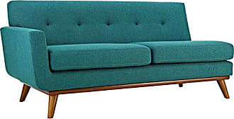 ModWay Modway Engage Mid-Century Modern Upholstered Fabric Right-Arm Loveseat In Teal