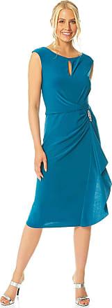 Ladies Flapper Evening Special Occasion Party New Year Christmas 1920 Sleeveless Knee Length LBD Dress Roman Originals Women Cotton Lace Tassel Sleeveless Shift Dress