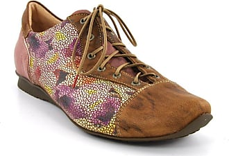 8a4ed00885 Think Womens 0-80110-54 Lace-Up Flats Beige Beige