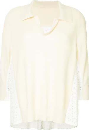 Onefifteen contrast lace panel jumper - NEUTRALS