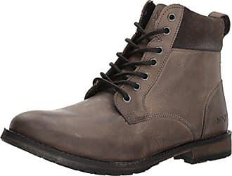 Andrew Marc Marc New York Mens Kent Combat Boot, Dark Grey/Black/Honey, 7.5 M US