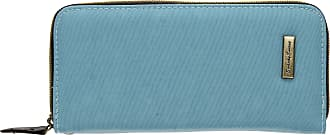 Swankyswans Riley Nylon Womens Zip around Flip Wallet Purse in Candy Light Blue