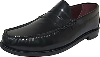 Ikon Original Mens Albion Penny Loafer Mod Shoe Black 10 UK/44 EU