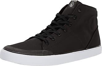 Volcom Mens FI HI TOP Vulcanized Shoe Skate Skateboarding, Black, 8.5 UK 42.5 EU