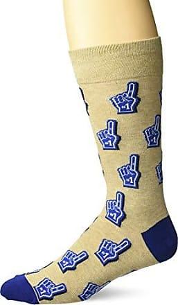 Hot Sox Mens Sports Series Novelty Casual Crew Socks, Foam FINGER (hemp), Shoe Size: 6-12