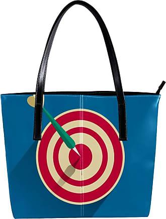 Nananma Womens Bag Shoulder Tote handbag with Beautiful Target Background Print Zipper Purse PU Leather Top-handle Zip Bags