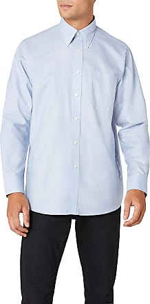Fruit Of The Loom Mens Oxford Long Sleeve Shirt, Oxford Blue, 18.5 Collar (Manufacturer Size:XXX-Large)