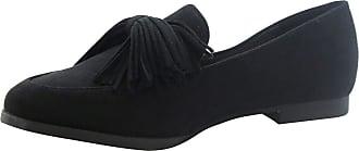 Saute Styles Womens Tassels Bow Loafers Ladies Fringe Flats Office Pumps School Shoes Size Black Tassel Bow 3