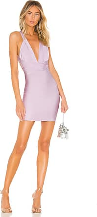 Superdown Natalia Deep V Bandage Dress in Purple