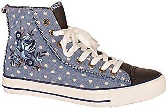 8bffed4085bf60 Krüger Trachten Damen Sneaker - Paula - blau