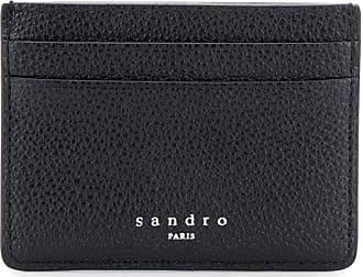 Sandro Porta cartões com efeito granulado - Preto