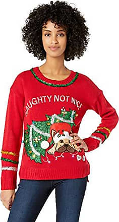Red Wine X-Large Blizzard Bay Womens Ugly Christmas Santa Sweater