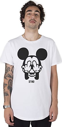 Stoned Camiseta Longline Middle Mickey - Llnmidmick-br-04