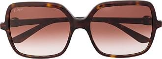 Cartier Óculos de sol quadrado C Décor - Marrom