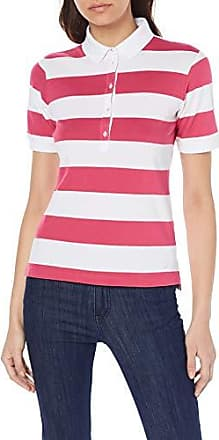 28a7fae52840ea Brax Damen Cleo Finest PIQUÉ Stretch Stripes gestreift Poloshirt, Rot (Deep  Pink 45)