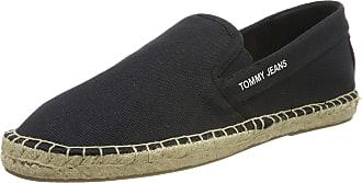Tommy Jeans Hilfiger Denim Tommy Jeans Flag Espadrille, Mens Espadrilles, Black (Dark Grey 990), 9 UK (43 EU)
