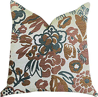 Plutus Brands Floweret Double Sided Luxury Throw Pillow 20 x 20 Green/Brown/White