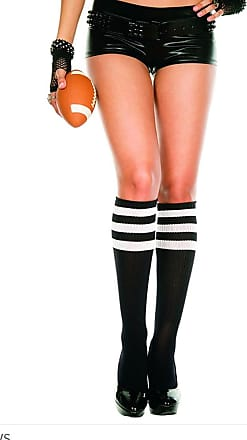 Ladies//Women Argyle Over the Knee socks in Orange and white shoe size4-7