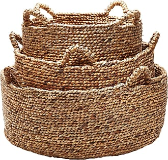 Dimond Home Natural Low Rise Baskets- Set Of 3