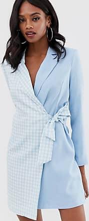 Unique21 Unique21 gingham blazer dress-Blue