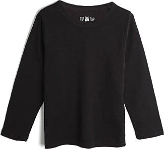 Tip Top Camiseta Tip Top Infantil Lisa Preta