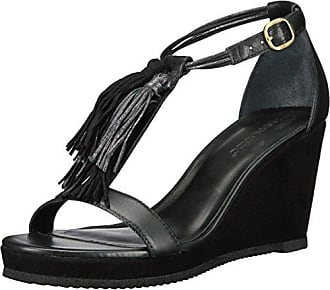 Bernardo Womens Khloe Wedge Sandal Black/Petrol 9.5 M US