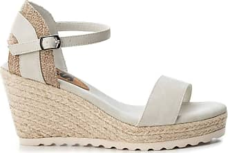 Refresh Womens Sandal with Wedge with Jute Buckle Closure - for: Women Size: 4 UK