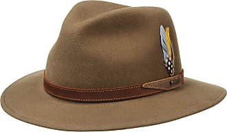 Fedora hat Outdoor with Leather Trim Grosgrain Band Summer-Winter Stetson Decato Wool Felt Trilby Men