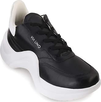 Via Uno Tênis Feminino Chunky Sneaker Preto e Branco - Via Uno R.:14773 TAMANHO: 37