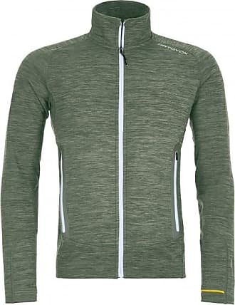 Ortovox Fleece Light Melange Jacket Wolljacke für Herren | grau/oliv