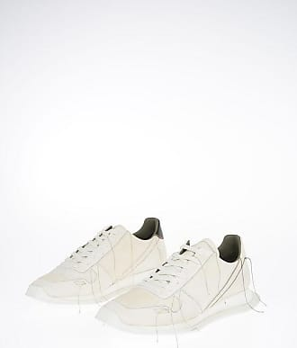 Rick Owens Leather VINTAGE RUNNER LACE UP Sneaker MILK/RIGHT Größe 40