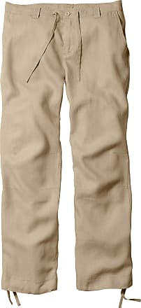 Bonprix Regular Fit Leinen-Hose, Straight beige, bonprix