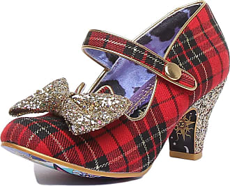 Irregular Choice Piccolo Womens Mary Jane Heeled Court Shoe (6.5 UK, Red/Gold (Red/Gold A))