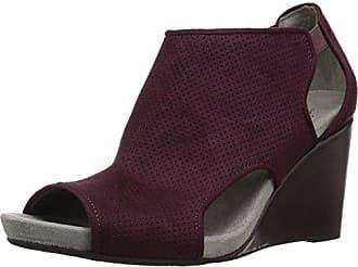 2ae71bb6b4 Life Stride Womens Hinx Wedge Sandal, Dark red, 6.5 M US