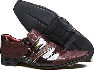 Calvest Sapato Social em Couro Nobuck com Textura Viena e Costuras Manuais Calvest - ZM3660C997-002 Bordo-36